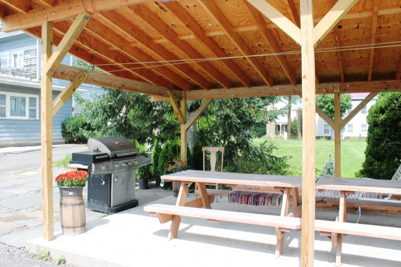 BBQ Area and Picnic Tables